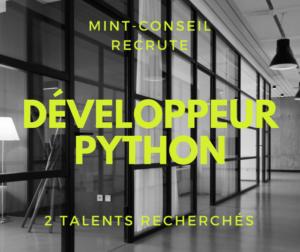 Développeur Python pour le secteur Finance